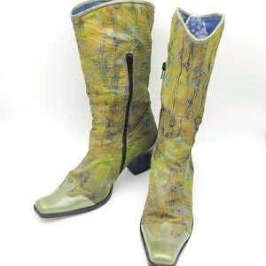 Arnold Churgin Western Floral Garden Boots